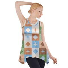 Fabric Textile Textures Cubes Side Drop Tank Tunic