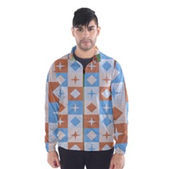 Fabric Textile Textures Cubes Wind Breaker (men)