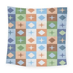 Fabric Textile Textures Cubes Square Tapestry (large)