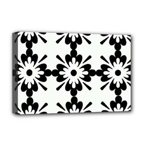 Floral Illustration Black And White Deluxe Canvas 18  X 12