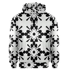 Floral Illustration Black And White Men s Pullover Hoodie