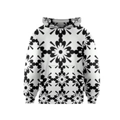 Floral Illustration Black And White Kids  Pullover Hoodie