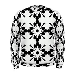 Floral Illustration Black And White Men s Sweatshirt