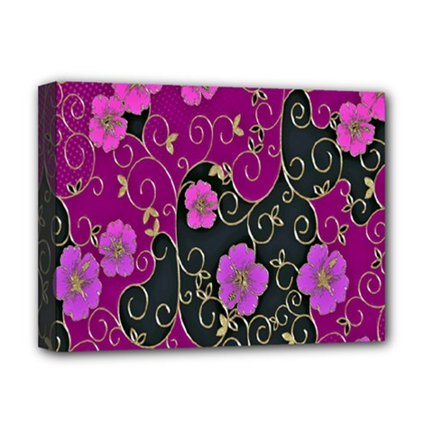 Floral Pattern Background Deluxe Canvas 16  X 12