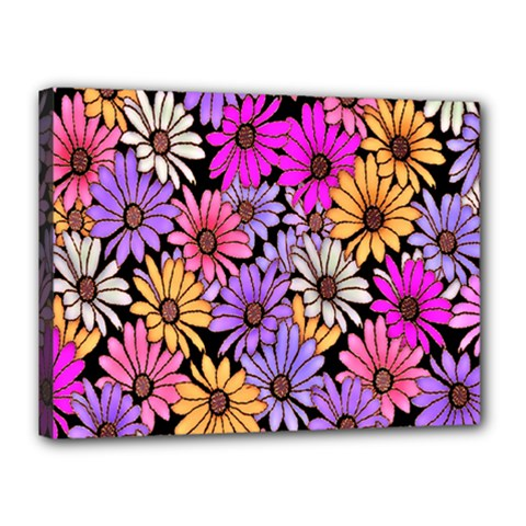 Floral Pattern Canvas 16  X 12