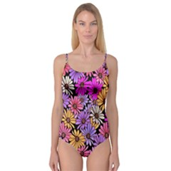Floral Pattern Camisole Leotard
