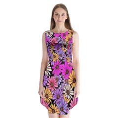 Floral Pattern Sleeveless Chiffon Dress