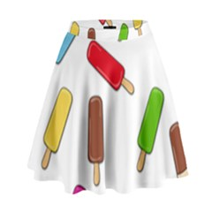 Ice cream pattern High Waist Skirt