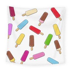 Ice Cream Pattern Square Tapestry (large)