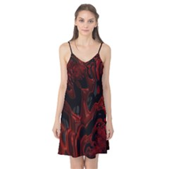 Fractal Red Black Glossy Pattern Decorative Camis Nightgown