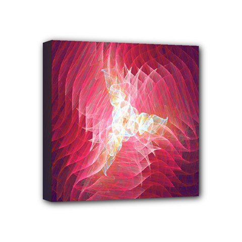 Fractal Red Sample Abstract Pattern Background Mini Canvas 4  X 4