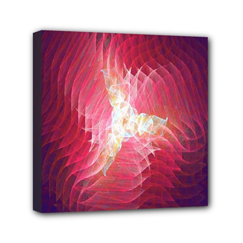 Fractal Red Sample Abstract Pattern Background Mini Canvas 6  X 6