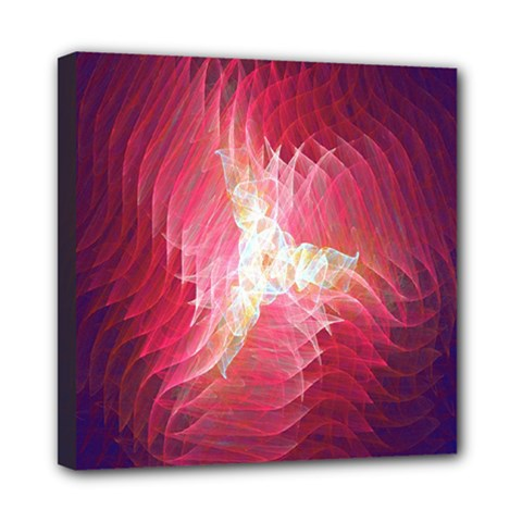 Fractal Red Sample Abstract Pattern Background Mini Canvas 8  X 8