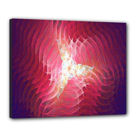 Fractal Red Sample Abstract Pattern Background Canvas 20  X 16