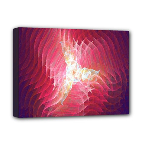 Fractal Red Sample Abstract Pattern Background Deluxe Canvas 16  X 12