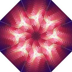 Fractal Red Sample Abstract Pattern Background Hook Handle Umbrellas (medium)