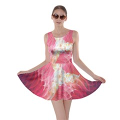 Fractal Red Sample Abstract Pattern Background Skater Dress