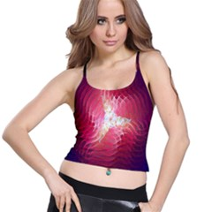 Fractal Red Sample Abstract Pattern Background Spaghetti Strap Bra Top