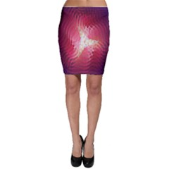 Fractal Red Sample Abstract Pattern Background Bodycon Skirt