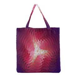 Fractal Red Sample Abstract Pattern Background Grocery Tote Bag