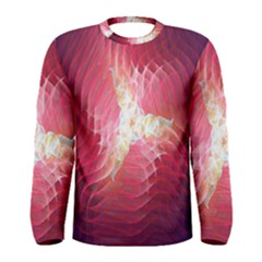 Fractal Red Sample Abstract Pattern Background Men s Long Sleeve Tee