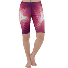 Fractal Red Sample Abstract Pattern Background Cropped Leggings