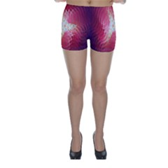 Fractal Red Sample Abstract Pattern Background Skinny Shorts