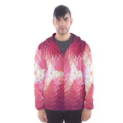 Fractal Red Sample Abstract Pattern Background Hooded Wind Breaker (men)