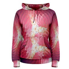 Fractal Red Sample Abstract Pattern Background Women s Pullover Hoodie
