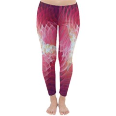 Fractal Red Sample Abstract Pattern Background Classic Winter Leggings