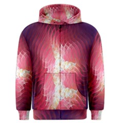 Fractal Red Sample Abstract Pattern Background Men s Zipper Hoodie