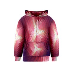 Fractal Red Sample Abstract Pattern Background Kids  Zipper Hoodie
