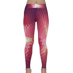 Fractal Red Sample Abstract Pattern Background Classic Yoga Leggings