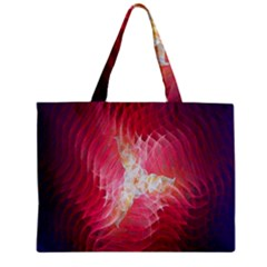Fractal Red Sample Abstract Pattern Background Zipper Mini Tote Bag