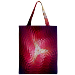 Fractal Red Sample Abstract Pattern Background Zipper Classic Tote Bag
