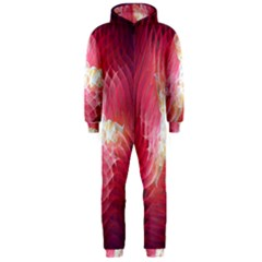 Fractal Red Sample Abstract Pattern Background Hooded Jumpsuit (men)