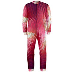 Fractal Red Sample Abstract Pattern Background Onepiece Jumpsuit (men)