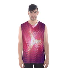 Fractal Red Sample Abstract Pattern Background Men s Basketball Tank Top