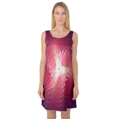 Fractal Red Sample Abstract Pattern Background Sleeveless Satin Nightdress