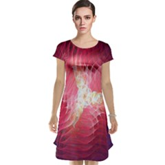 Fractal Red Sample Abstract Pattern Background Cap Sleeve Nightdress
