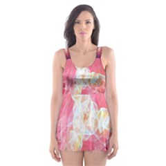 Fractal Red Sample Abstract Pattern Background Skater Dress Swimsuit