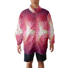 Fractal Red Sample Abstract Pattern Background Wind Breaker (kids)
