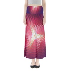 Fractal Red Sample Abstract Pattern Background Maxi Skirts