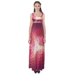 Fractal Red Sample Abstract Pattern Background Empire Waist Maxi Dress