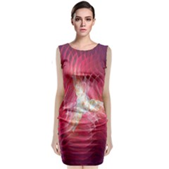 Fractal Red Sample Abstract Pattern Background Classic Sleeveless Midi Dress