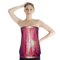 Fractal Red Sample Abstract Pattern Background Strapless Top