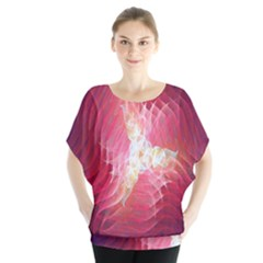 Fractal Red Sample Abstract Pattern Background Blouse