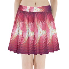 Fractal Red Sample Abstract Pattern Background Pleated Mini Skirt