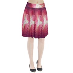 Fractal Red Sample Abstract Pattern Background Pleated Skirt