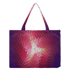 Fractal Red Sample Abstract Pattern Background Medium Tote Bag